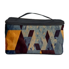 Apophysis Isometric Tessellation Orange Cube Fractal Triangle Cosmetic Storage Case by Mariart