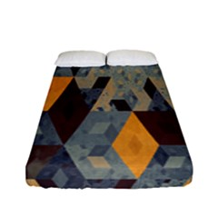 Apophysis Isometric Tessellation Orange Cube Fractal Triangle Fitted Sheet (full/ Double Size) by Mariart