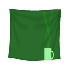 Mug Green Hot Tea Coffe Square Tapestry (small) by Mariart