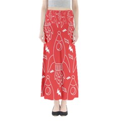 Moon Red Rocket Space Maxi Skirts by Mariart