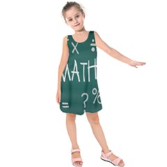 Maths School Multiplication Additional Shares Kids  Sleeveless Dress by Mariart