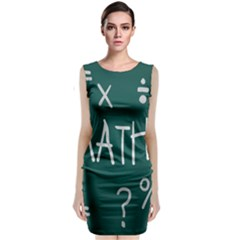Maths School Multiplication Additional Shares Sleeveless Velvet Midi Dress by Mariart