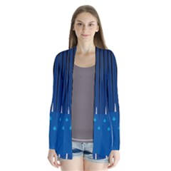 Rain Blue Sky Water Black Line Cardigans by Mariart