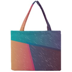 Modern Minimalist Abstract Colorful Vintage Adobe Illustrator Blue Red Orange Pink Purple Rainbow Mini Tote Bag by Mariart