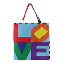 Rainbow Love Grocery Tote Bag by Mariart