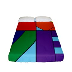 Rainbow Love Fitted Sheet (full/ Double Size) by Mariart