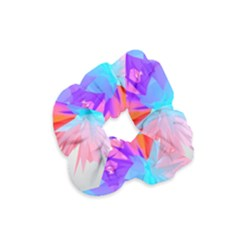 Poly Symmetry Spot Paint Rainbow Velvet Scrunchie by Mariart