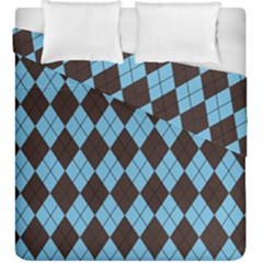Plaid Pattern Duvet Cover Double Side (king Size)