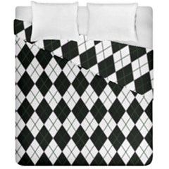 Plaid Pattern Duvet Cover Double Side (california King Size)