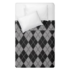 Plaid Pattern Duvet Cover Double Side (single Size)