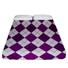 Plaid Pattern Fitted Sheet (king Size)