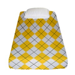 Plaid Pattern Fitted Sheet (single Size) by Valentinaart
