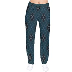 Plaid Pattern Drawstring Pants by Valentinaart