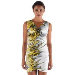 Fire Wrap Front Bodycon Dress