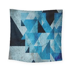 Plane And Solid Geometry Charming Plaid Triangle Blue Black Square Tapestry (small) by Mariart