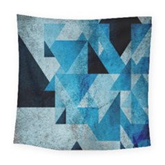 Plane And Solid Geometry Charming Plaid Triangle Blue Black Square Tapestry (large) by Mariart