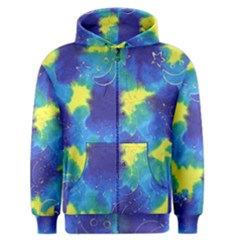 Mulberry Paper Gift Moon Star Men s Zipper Hoodie by Mariart