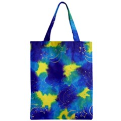 Mulberry Paper Gift Moon Star Zipper Classic Tote Bag by Mariart