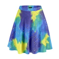 Mulberry Paper Gift Moon Star High Waist Skirt by Mariart