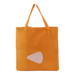 Screen Shot Circle Animations Orange White Line Color Grocery Tote Bag by Mariart