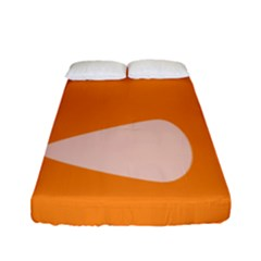 Screen Shot Circle Animations Orange White Line Color Fitted Sheet (full/ Double Size) by Mariart