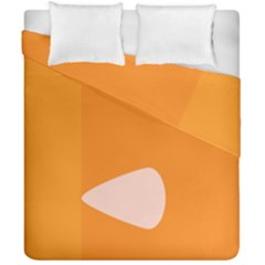 Screen Shot Circle Animations Orange White Line Color Duvet Cover Double Side (california King Size) by Mariart