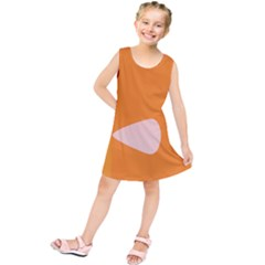 Screen Shot Circle Animations Orange White Line Color Kids  Tunic Dress by Mariart