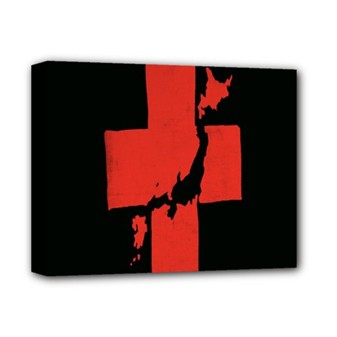 Sign Health Red Black Deluxe Canvas 14  X 11  by Mariart