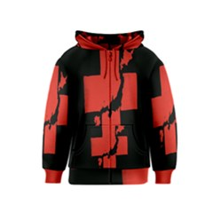 Sign Health Red Black Kids  Zipper Hoodie by Mariart