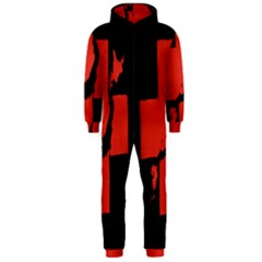 Sign Health Red Black Hooded Jumpsuit (men)  by Mariart