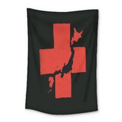 Sign Health Red Black Small Tapestry by Mariart