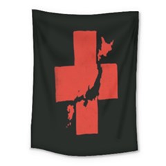Sign Health Red Black Medium Tapestry by Mariart