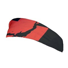 Sign Health Red Black Stretchable Headband by Mariart