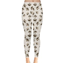 Autumn Leaves Motif Pattern Leggings  by dflcprintsclothing