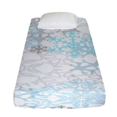 Sign Flower Floral Transparent Fitted Sheet (single Size) by Mariart