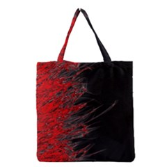 Fire Grocery Tote Bag by Valentinaart