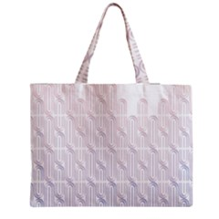 Seamless Horizontal Modern Stylish Repeating Geometric Shapes Rose Quartz Medium Tote Bag by Mariart