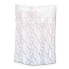 Seamless Horizontal Modern Stylish Repeating Geometric Shapes Rose Quartz Small Tapestry by Mariart