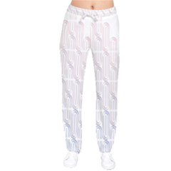 Seamless Horizontal Modern Stylish Repeating Geometric Shapes Rose Quartz Drawstring Pants by Mariart