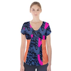 Recursive Reality Number Short Sleeve Front Detail Top by Mariart