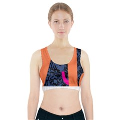 Recursive Reality Number Sports Bra With Pocket by Mariart
