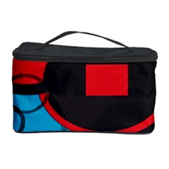 Stancilm Circle Round Plaid Triangle Red Blue Black Cosmetic Storage Case by Mariart
