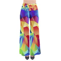 Triangles Space Rainbow Color Pants by Mariart
