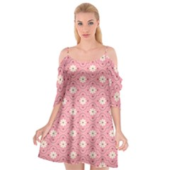 Sunflower Star White Pink Chevron Wave Polka Cutout Spaghetti Strap Chiffon Dress by Mariart
