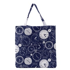 World Clocks Grocery Tote Bag by Mariart