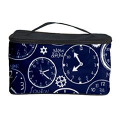 World Clocks Cosmetic Storage Case by Mariart