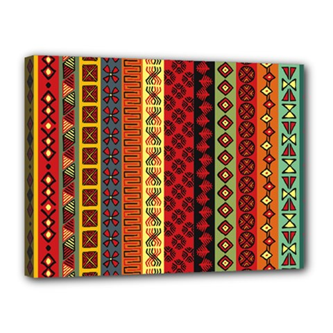 Tribal Grace Colorful Canvas 16  X 12  by Mariart