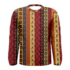 Tribal Grace Colorful Men s Long Sleeve Tee