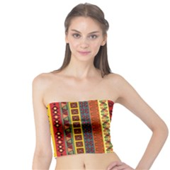 Tribal Grace Colorful Tube Top by Mariart