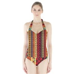 Tribal Grace Colorful Halter Swimsuit by Mariart